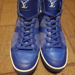 Louis Vuitton Hightop Leather Sneakers